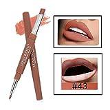 Tefamore Miss Rose Double-Fin Lining Durable imperméable Lip Liner Stick Pencil 8 Couleur (Y-D)