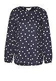 armedangels Damen Bluse aus Tencel® - Noreen Bubble Dots - M Navy-White