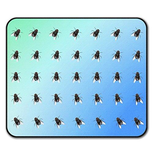 (Fliege Muster Fehler Tier Mouse Mat Pad, Insekt Rutschfeste Unterlage - Glatte Oberfläche, verbessertes Tracking, Gummibasis von Wellcoda)