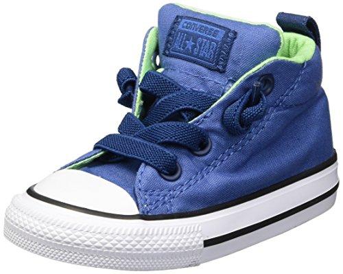 Converse Boys' Street Fundamentals Mid Top Slip on Sneaker, Nightfall Blue/Navy, 4 M US Toddler (Sneaker Converse Toddler)