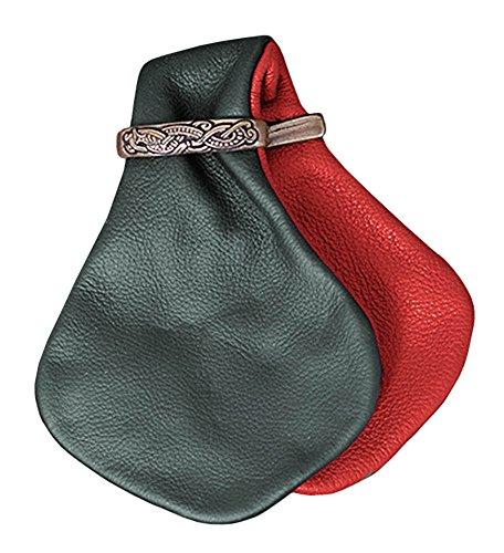 Mittelalterliche Geldkatze Chazza LARP Münzbeutel Mittelalter Portmonee Winkinger verschiedene Farben (Rot/Grün) (Grüne Armee Soldat Kostüm)