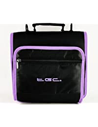 New Jet Black & Electric Purple Trims & Linings Deluxe Twin Compartment Shoulder Carry Case Bag for the Apple iPad Mini Tablet - Cover & Accessories