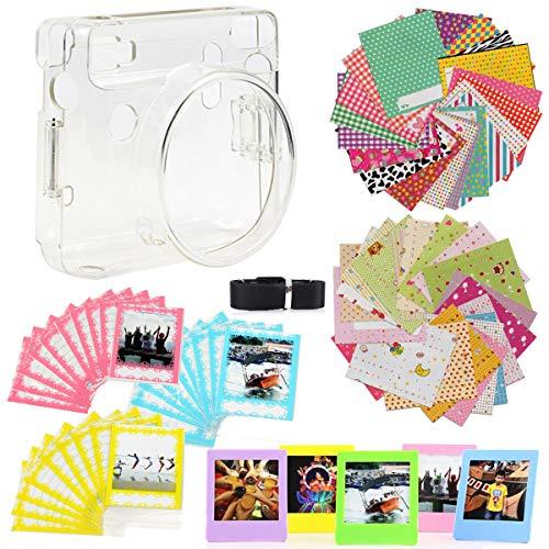 JXE 7 in 1 Bundle Kit Zubehör für Fujifilm Instax Square SQ6 Kamera - Packung mit Transparenten Schutzhüllen, Gurt, Stickerboarder, Desktop Rahmen, Wandaufhängung, Holzclips -
