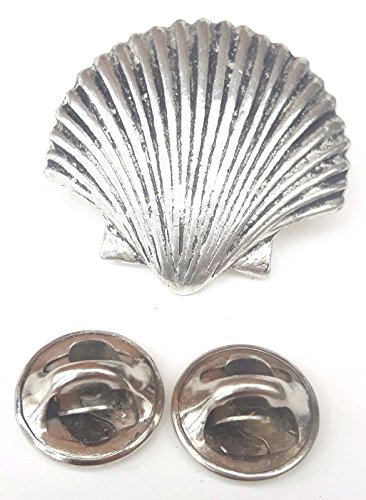 Sea Shell fatto a mano in solido peltro nel Regno Unito Lapel Pin Button Badge + 59 mm Spilla + Sacchetto