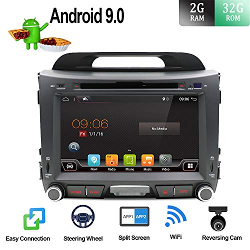 Kapazitativer Kfz-Touchscreen für Einbau-Haupteinheit, 8 Zoll (20,3 cm), Android 7.1, GPS, Video-/DVD-Player, Autoradio, Elektronik, CD, MP3, MP4, Autoradio, Multimedia Kia Sportage Radio
