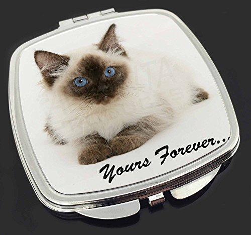 Ragdoll Cat ' Yours Forever' Make-up Taschenspiegel (Ragdoll Up Make)