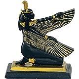 Ägyptische Göttin Maat kniend mit Flügeln nach vorne