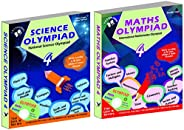 Olympiad Class 4 Combo(Maths + Science) For IMO & NSO (Set Of 2 Bo
