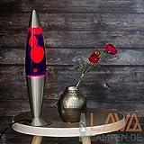 Lavalampe 42cm / Magmalampe Lavaleuchte / Lavalampe violett orange / Lavalampe Lollipop/ E14 25W / mit Kabelschalter / Geschenkidee Weihnachten / inklusive Leuchtmittel /...