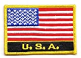 Aufnäher Patch USA Schrift Fahne Flagge FLAGGENMAE®