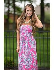 La Sra. vestidos de verano vestidos sello back falda falda larga falda ,PINK,L/EU40 pastel-YU&XIN