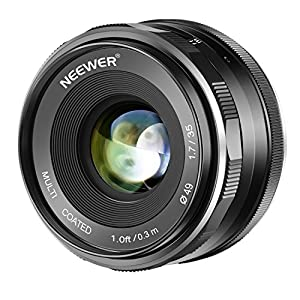 Neewer 35mm F/1.7 großer Apertur APS-C Primäre Manualle Fokus Objektiv für Canon Canon EF-M EOS-M Mount Spiegellose Kameras EOS M M2 M3 M5 M6 M10 M50 M100 usw