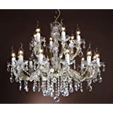 crystal chandelier 18 arms Ø75cm brass