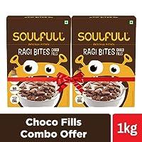 Soulfull Ragi Bites, Choco Fills, Combo Pack- No Maida, High Calcium, 1kg