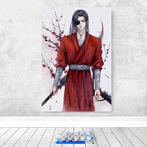 Aus Alten Kleidern Kostüm - Alesx Malen nach ZahlenMalerei DIY Digitale Malerei Alten Kostüm Roten Kleid Mann Malerei Hauptdekoration Digitale Moderne Wandkunst-40x50cm Rahmen