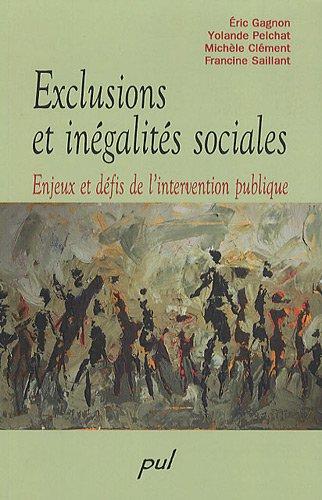 Exclusions et inégalités sociales : Enjeux et défis de l'intervention publique