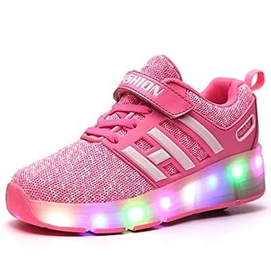 Rollen Roller Shoes Sportschuhe Laufschuhe LED Sneakers Skate Schuhe Rollen Kinderschuhe Rollen Skateboard Jungen mit mit Schuhe Kinder Skate Schuhe dxBoEerCWQ