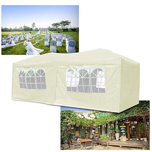 Cenador plegable de 3x 6m de HG® para jardín de PVC, plegable, impermeable, beige