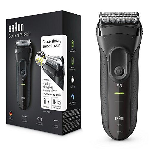 Braun 3020S Series 3 ProSkin - Afeitadora eléctrica de lámina, color negro