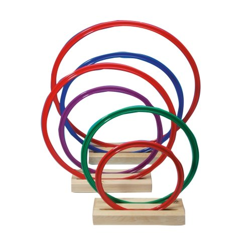 Preisvergleich Produktbild Hula Hoop Flachreifen,  20er Set - Schulsport Gymnastikreifen Fitnessreifen Bauchtrainer - Hulla Hoop