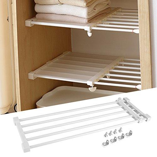 Cocoarm - sistema telescopico per guardaroba da cucina, frigorifero, libreria, mensole estraibili, campo di regolazione 75-120 cm
