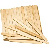 HK Balloons Natural Wooden Ice Cream Popsicle Sticks for School Projects (Wooden) - Pack of 100