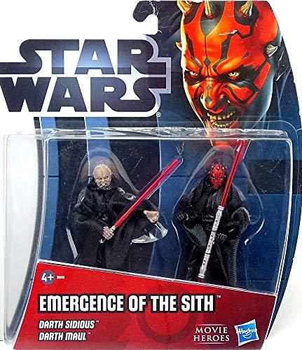 Emergence of the Sith Darth Sidious & Darth Maul im Set - Star Wars Movie Heroes von Hasbro