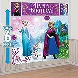 Disney Frozen Kit de décoration murale Scène Setter Accessoires de fête en plastique