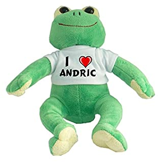 Plush Frog with I Love Andric T-shirt (first name/surname/nickname)