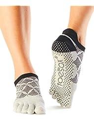 1 Paire complet Toe ToeSox femmes Organic Cotton Low Rise yoga Chaussettes Dans Fuchsia