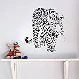 Wandtattoos Wandbilder 3D Tiger Wandaufkleber Schlafzimmer personalisierte Ideen Dekoration Aufkleber wasserdicht abnehmbar Wandbild 58 * 57cm