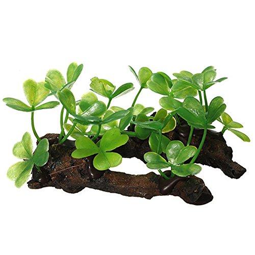 Toruiwa Aquarium Dekoration Künstliche Pflanzen Aquarium Wasserpflanzen Aquariumpflanzen 10*6*5cm Grün (1 Stück)
