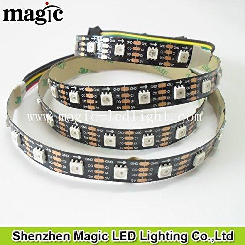Preisvergleich Produktbild APA102 60 LED/m, 5V, 18 Watt/m, Schwarz LED-Strip (3m Rolle)
