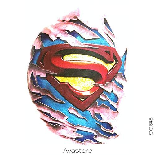 AVASTORE Temporäre Tattoos, Super Helden, S