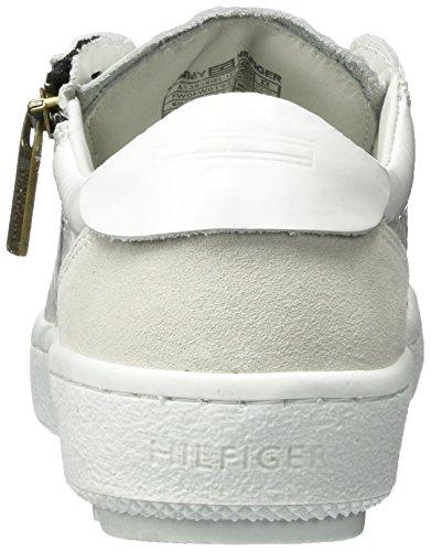 Hilfiger Denim Damen A1385riel 1z1 Sneaker Weiß (White)