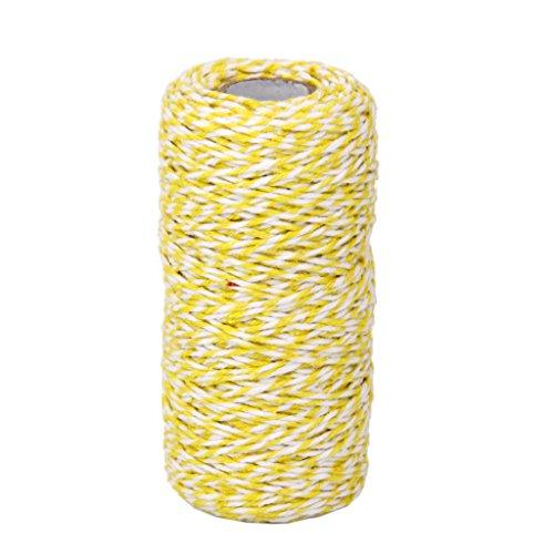 k Baumwollseil Band Schnur Seil Schnur String Gelb, Weiss (Gelbe Bänder)
