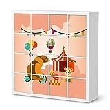 Möbel-Folie Sticker für IKEA Expedit Regal 16 Türen | Poster Jugendzimmer einrichten | Einrichtungsideen IKEA Möbelfolie Kinder-Zimmer Moderne Deko | Kids Kinder Bärenstark