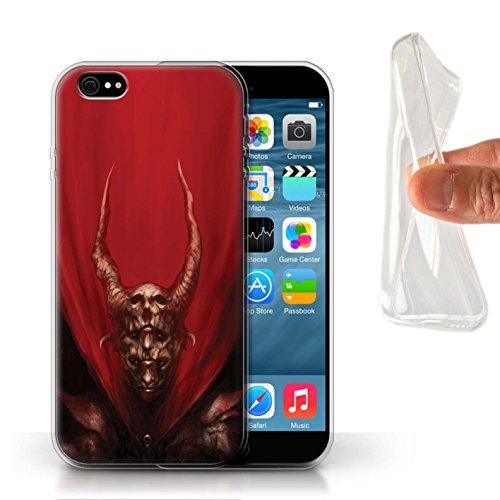 Offiziell Chris Cold Hülle / Gel TPU Case für Apple iPhone 6 / Pack 10pcs Muster / Dunkle Kunst Dämon Kollektion Rot Herzog