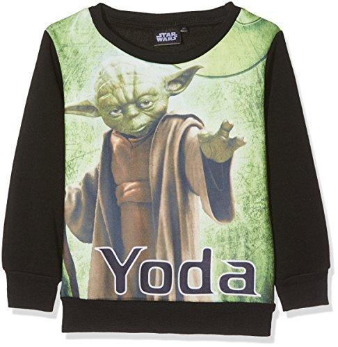 (Star Wars Jungen Sweatshirt Old Movies, Schwarz (Black ST4-6659), 7-8 (Herstellergröße: 8 Jahre))