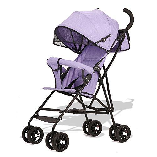 Pushchairs Kinderwagen, Kinderwagen Leichter Buggy Buggy (Tragfähigkeit: 30KG),Purple