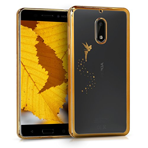 kwmobile Nokia 6 (2017) Hülle - Handyhülle für Nokia 6 (2017) - Handy Case in Gold Transparent