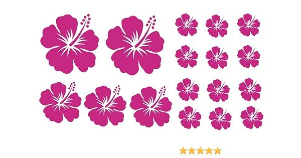 Xl Design Set Y In Pink 17 Stück Hibiskus Blumensticker Autoaufkleber Blumen Oder Wandtattoo Selbstklebende Aufkleber Fürs Auto Wandsticker Out Indoor Wandbild Fensterbild Wählen Sie Aus 32 Farben Spielzeug