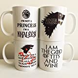 Game of Thrones Coffee Mugs Khaleesi, Red Wedding, Winter is Coming, God of Tits and Wine by MugBros