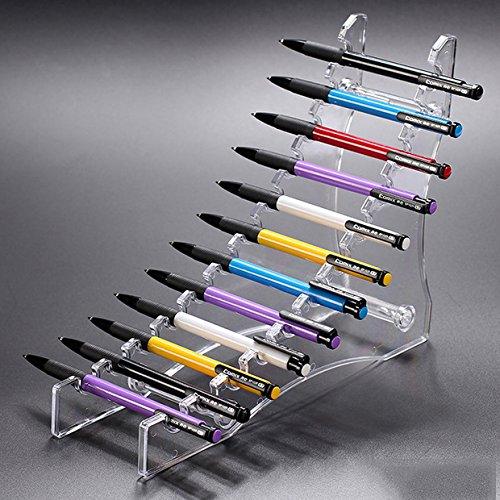 E-Meoly durchsichtiger Acryl-Ständer mit 12 Ebenen für Stifte/Augenbrauenstifte/Make-up-Pinsel/Nagelbürsten/E-Zigaretten