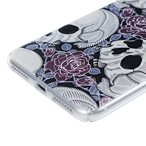 """Coque iPhone 7 Plus 5.5"""", Badalink Case Housse Étui Protection Bumper en PC Plastique Ultra Mince Slim Rigide Dur Léger Motif Crâne Crâne"""
