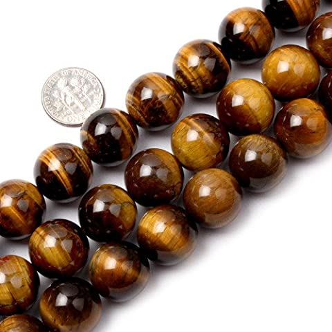 Sweet & Happy Girl'S Store 16mm Round Gemstone Tiger Eye Stone Beads Strand 15 Inch Jewellery Making