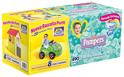 Pampers Baby Fresh Salviettine, Pacco da 490 Pezzi