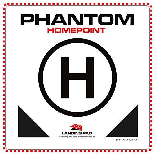 """Landing Pad #001 Der mobile Landeplatz für DJI Phantom Quadrocopter mit Status LED Reflektoren, Größe 48 x 48 cm / stabile 5 mm Platte / Das Original von """"LANDING-PAD.COM"""""""