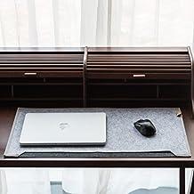 """Multifuncional oficina Organizador de escritorio Pad Mesa, Homi Alfombrilla de ratón w/papel y Pen ordenador de bolsillo de fieltro para Desktop Laptop MacBook, 25,6""""x13.2, color gris"""