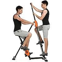 Preisvergleich für Pairkal Innovativer 2in1 Stepper & Vertical Climber Fitness, Climber Fitnessgerät für Ganzkörpertraining, Arm- und Beintrainer, Kletterbewegungen Climbing Machine, klappbar, Unterstützt bis zu 200kg